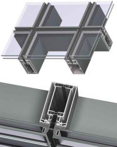 Исполнение без видимого крепления стеклопакетов структурное