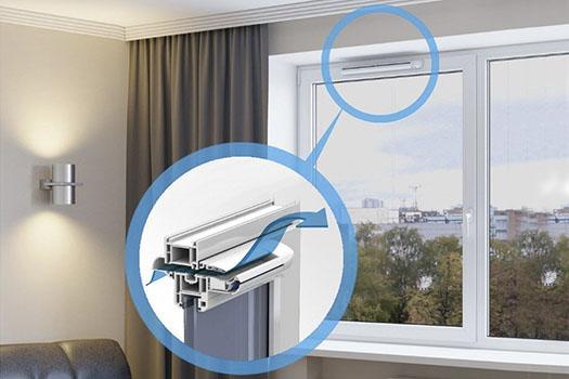 Клапаны вентиляции в пластиковых окнах